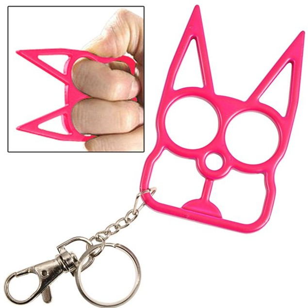 Self Defense Cat Keychain