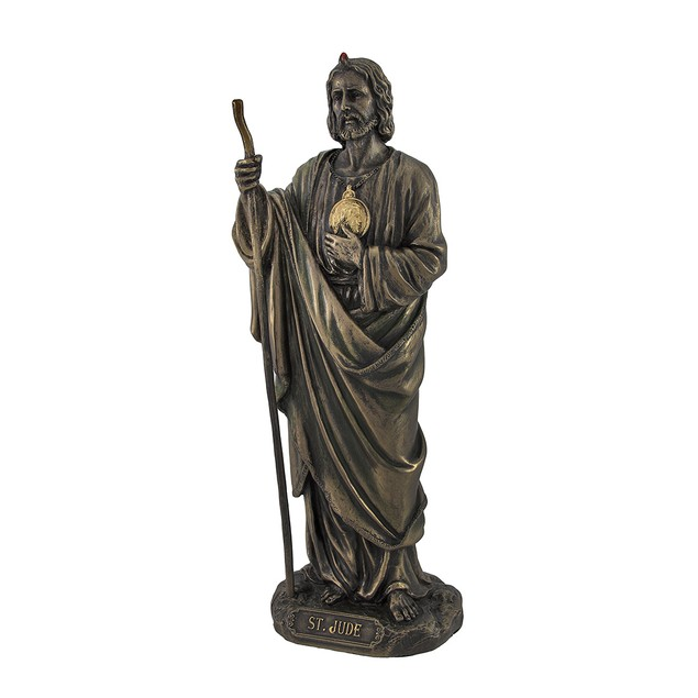 Bronzed St. Jude Statue 8 In. Statues