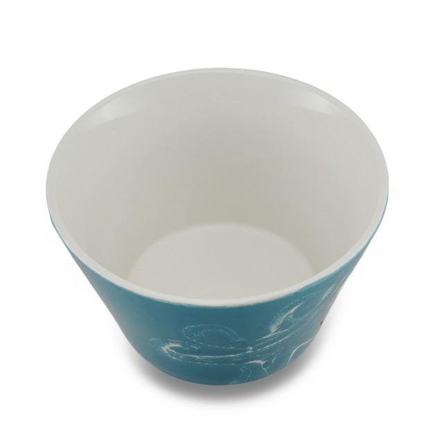 5 1/2 Inch Diameter Ocean Blue Ceramic Octopus Decorative Bowls