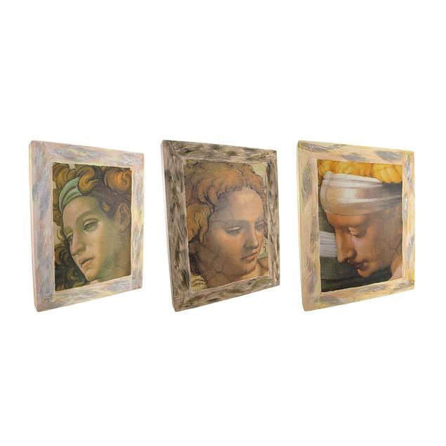 3 Pc. Michelangelo Sistine Chapel Replica Print Prints