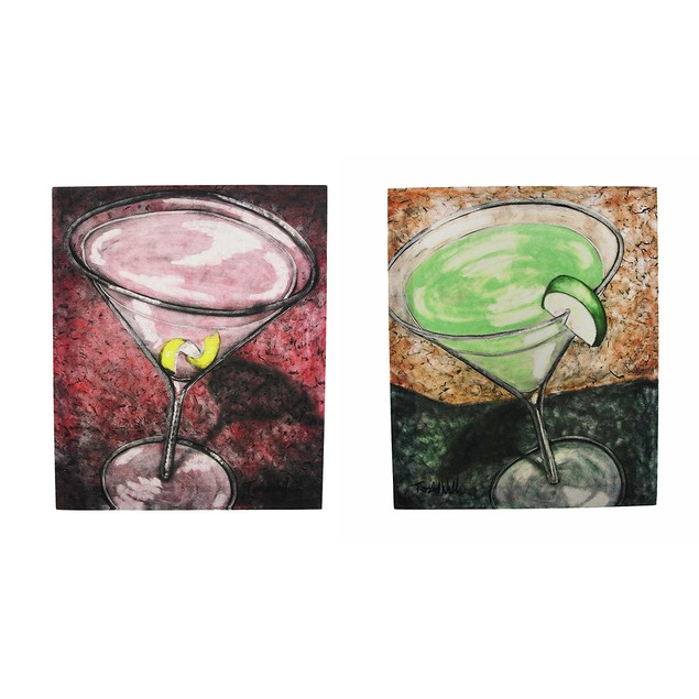 Apple Martini And Cosmopolitan Cocktail Canvas Paintings