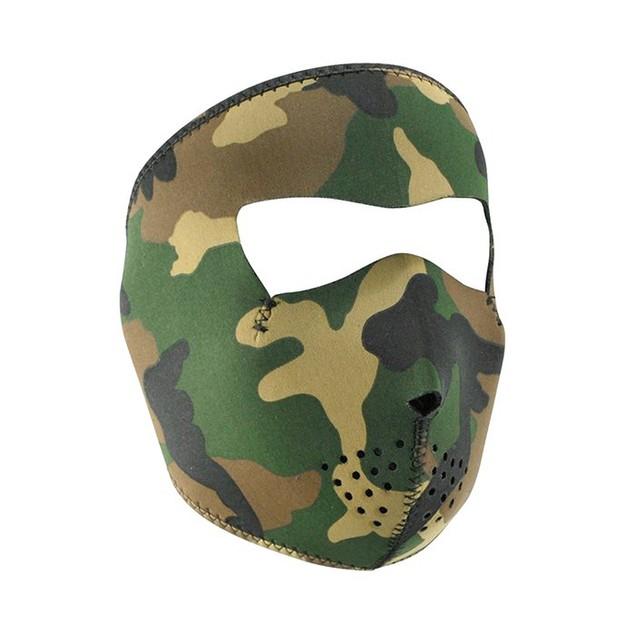 Woodland Camouflage Neoprene Full Face Mask