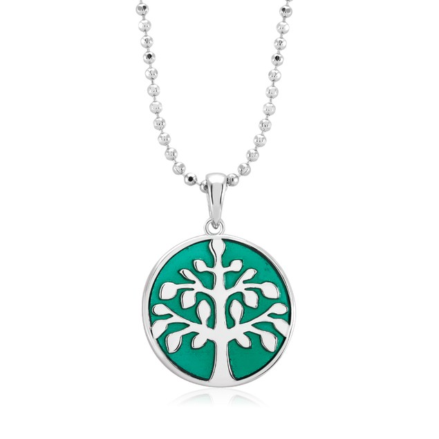 Designer Inspired Crystal Tree of Life Drop Necklace
