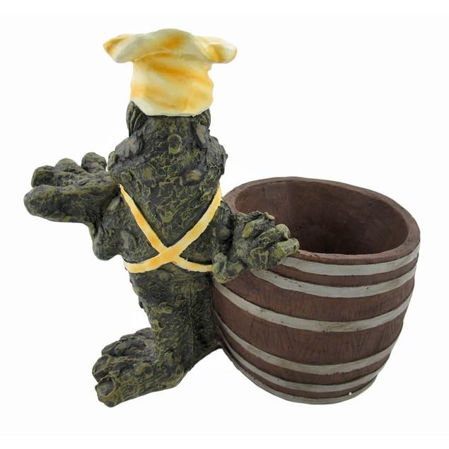 `I Love Vino` Chef Toad Wine Cooler And Corkscrew Tabletop Wine Racks
