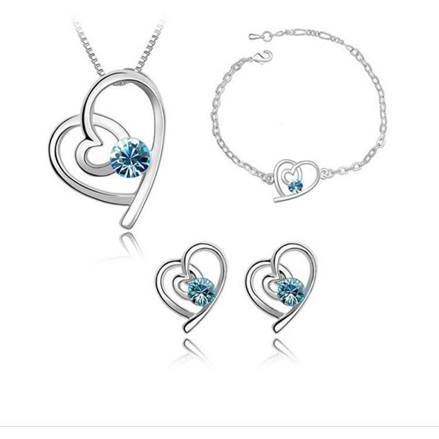 Everlasting Love 3pc Crystal Jewelry Set