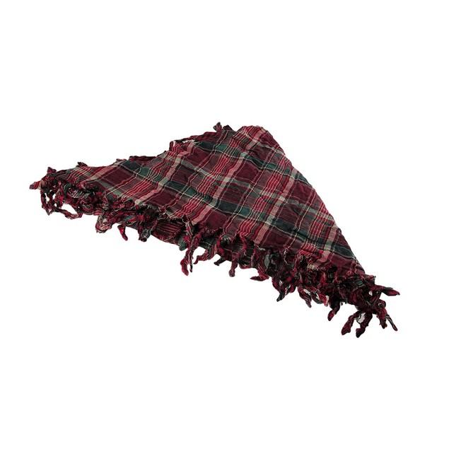 Fuchsia Plaid Triangular Reversible Neck Scarf Womens Fashion Scarves