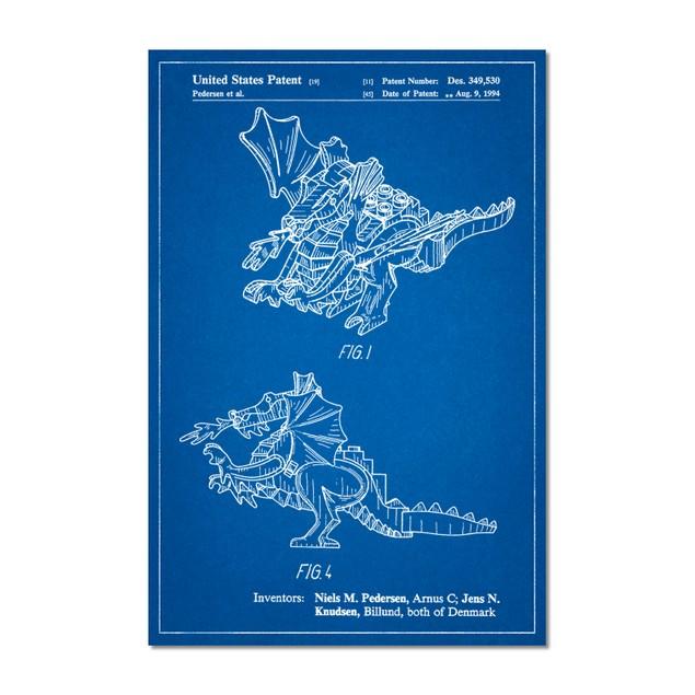 Lego Dragon Patent Poster