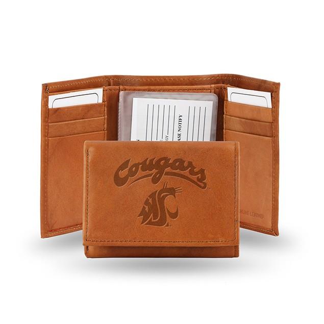 Washington State Leather Manmade Trifold