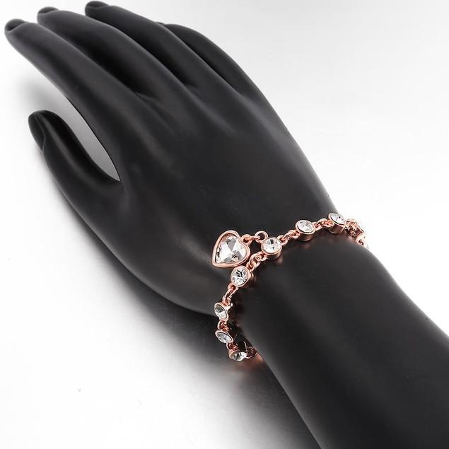 Heart Rose Gold Plated Bracelet