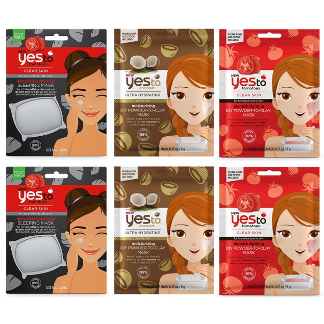 Yes To Mask Essential Mask Kit - 6 Total Masks