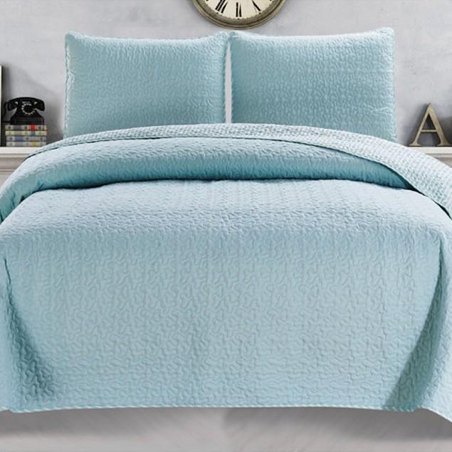 Jasmine 3-Piece Printed Double Brushed Luxury Quilt Set with Shams