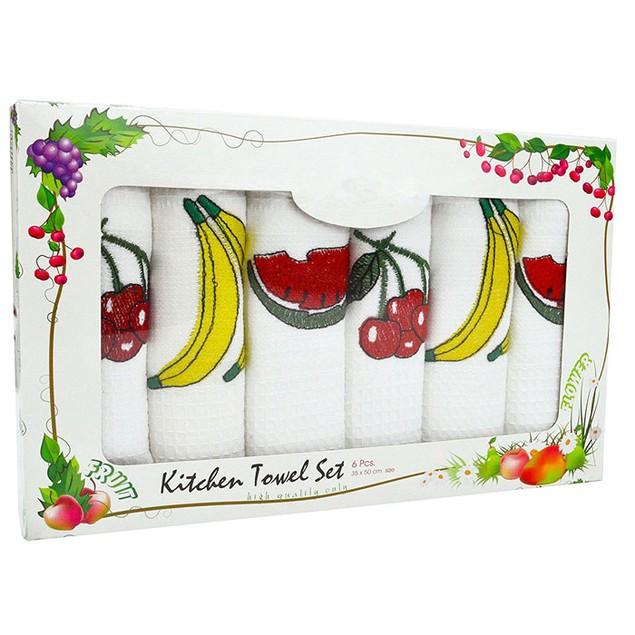 "Swan Comfort Kitchen 100% Natural Cotton 20"" x 14"" Kitchen Towel (Set of 6)"