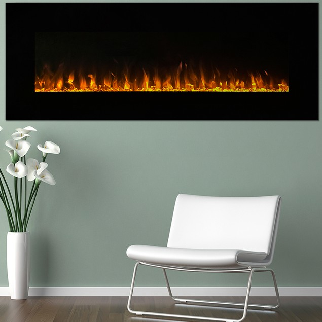 "Northwest 54"" LED Fire and Ice Electric Fireplace"
