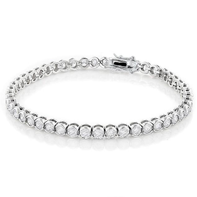 10cttw Cubic Zirconia Bezel Tennis Bracelet