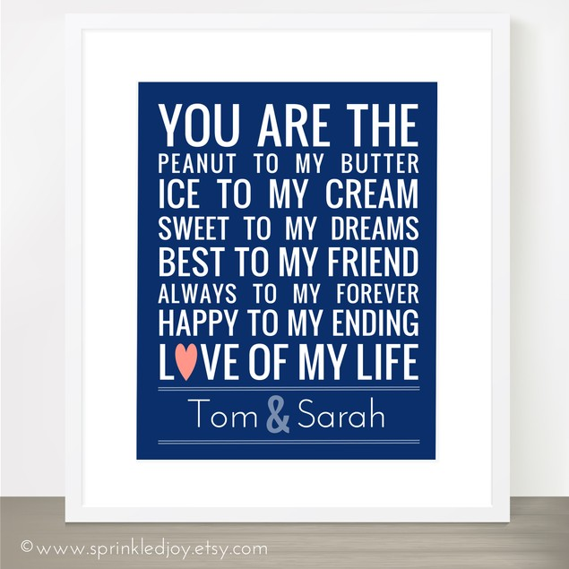 You Are the Peanut to My Butter - 8x10
