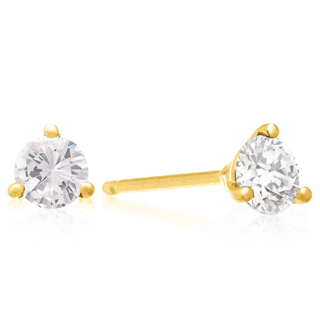 3/4cttw Martini Diamond Stud Earrings