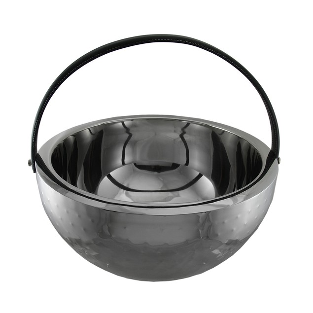 Polished Stainless Steel Round Beverage Bucket Wine Chillers