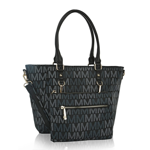 MKF Collection Karma M Signature Tote Crossbody Bag by Mia K. Farrow