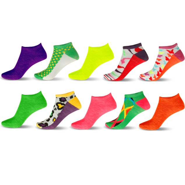 20-Pair Mystery Deal: Women's No-Show Ankle Socks