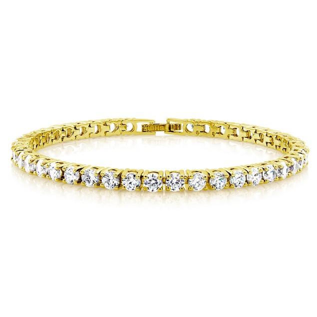 Gold Plated Cubic Zirconia Tennis Bracelet