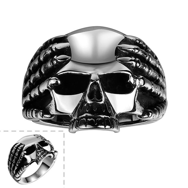 Medium Stainless Steel Skull Ring