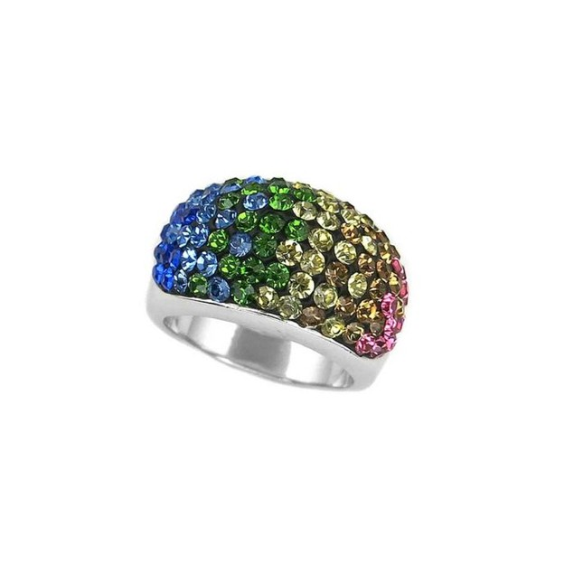 Austrian Crystal Multi Colored Ring