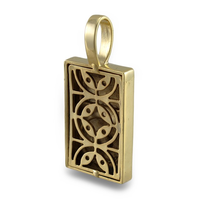 Goldtone Rhinestone Encrusted Mp3 Player Pendant Mens Pendants