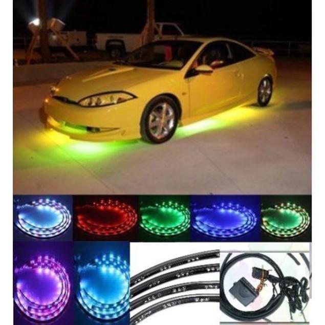 Zone Tech 7 Colors LED Neon Strip Underglow  Light Kit