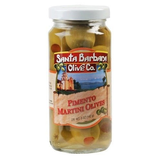 Santa Barbara Olive Co. Hand Stuffed Pimento Martini Olives 5oz Jar