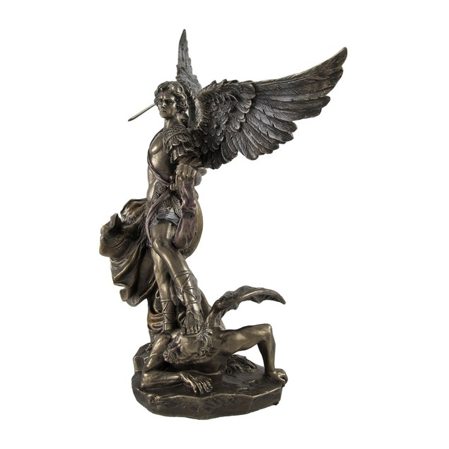 Bronzed St. Michael Defeating Lucifer Statue 10 Statues