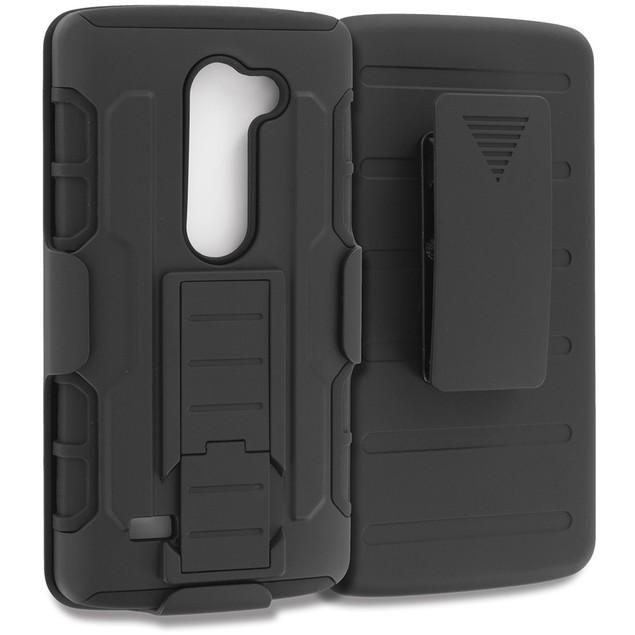 LG LG Leon Hybrid Heavy Duty Case Cover Belt Clip Robot Holster