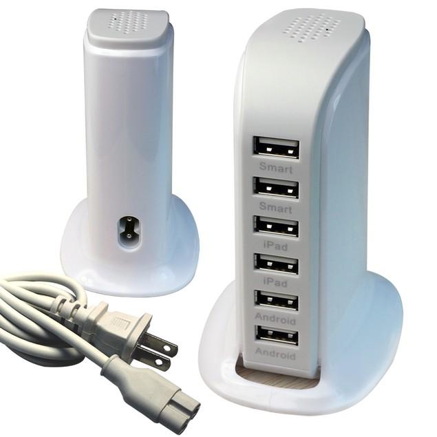 40 Watt 6 Port USB Power Charging Station