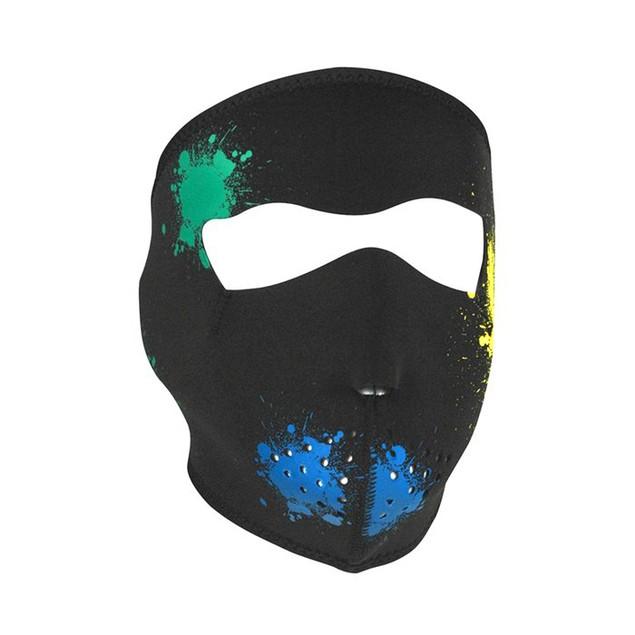 Glow in the Dark Splatter Neoprene Full Face Mask