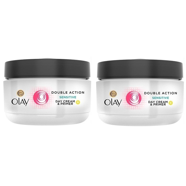 Olay Double Action Sensitive Day Cream & Primer 50 ml (1.7 Oz) Unboxed