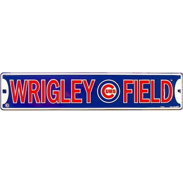 Chicago Cubs MLB Wrigley Field Street Sign