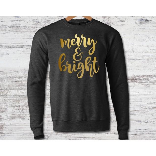 Merry & Bright Crew Neck Sweatshirt