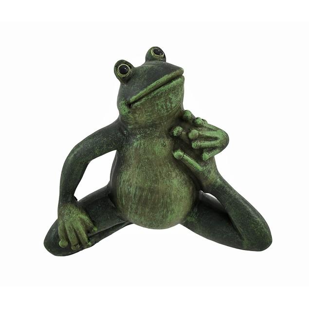 Yoga Frog Bending Knee Hip Stretch Statues