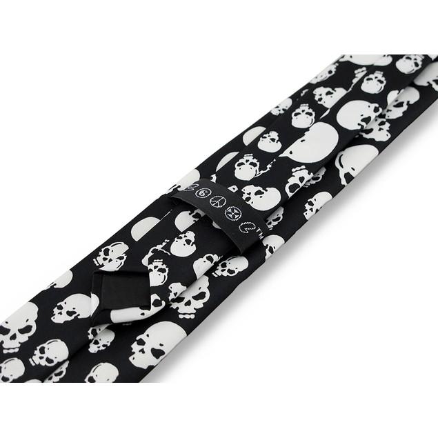 Black And White Skulls Necktie Punk Goth Neck Tie Mens Neckties