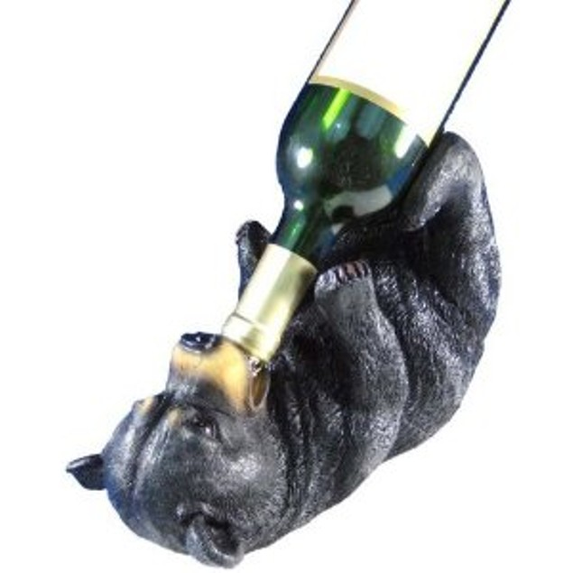 Playful Bear Cub Wine Bottle Holder Kitchen Decor Wine Bottle Holders