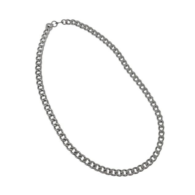 24 Inch Stainless Steel Curb Link Necklace 3/8 Chain Necklaces
