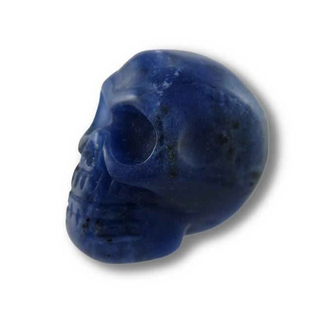 Beautiful Carved Sodalite Gemstone Skull 25Mm 1 Loose Gemstones