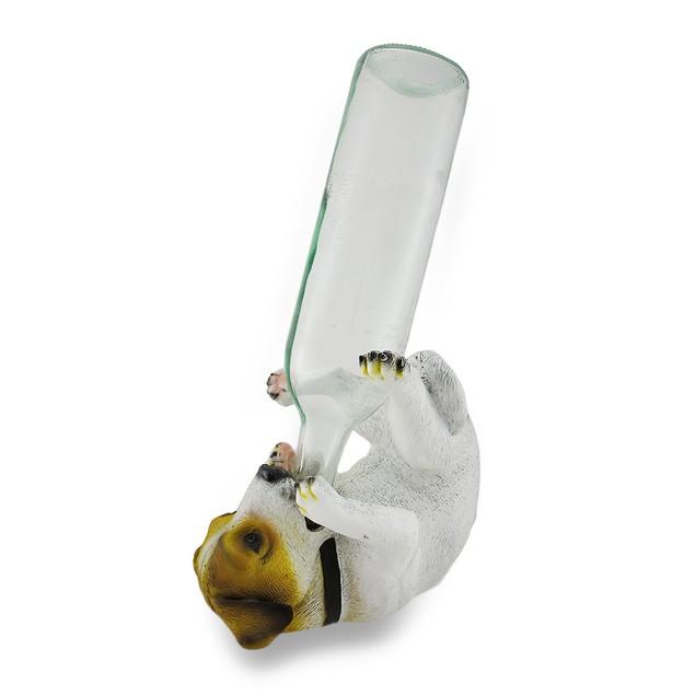 Jack Russell Terrier Wine Holder Bottle Display Tabletop Wine Racks