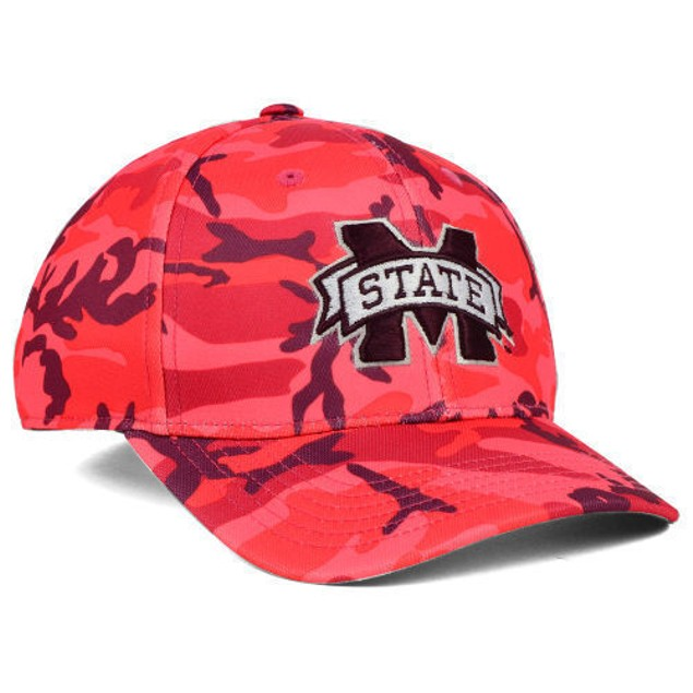 """Mississippi State Bulldogs NCAA TOW """"Gulf Camo"""" Stretch Fitted Hat"""