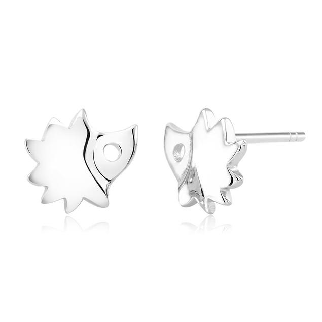 Sterling Silver Hedgehog Stud Earrings