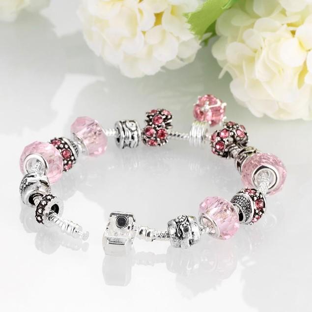 50 Shades of Pink Designer Inspired Bracelet