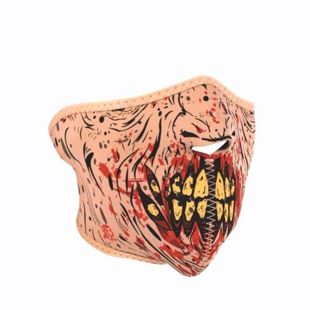 Neoprene 1/2 Face Mask - Zombie