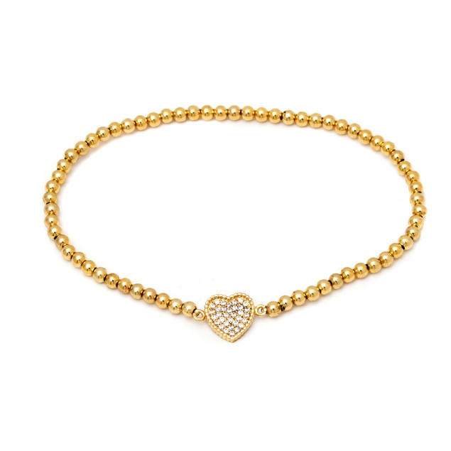 18K Gold and Swarovski Elements Heat Bead Bracelet