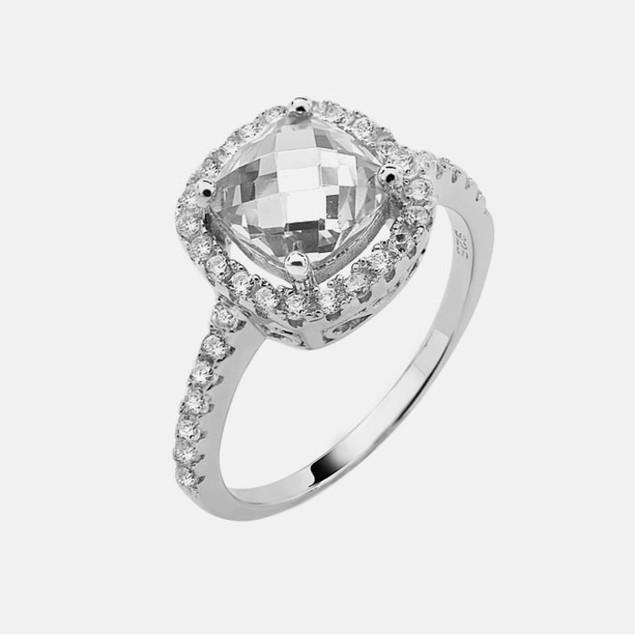 Sterling Silver Birthstone Ring - April