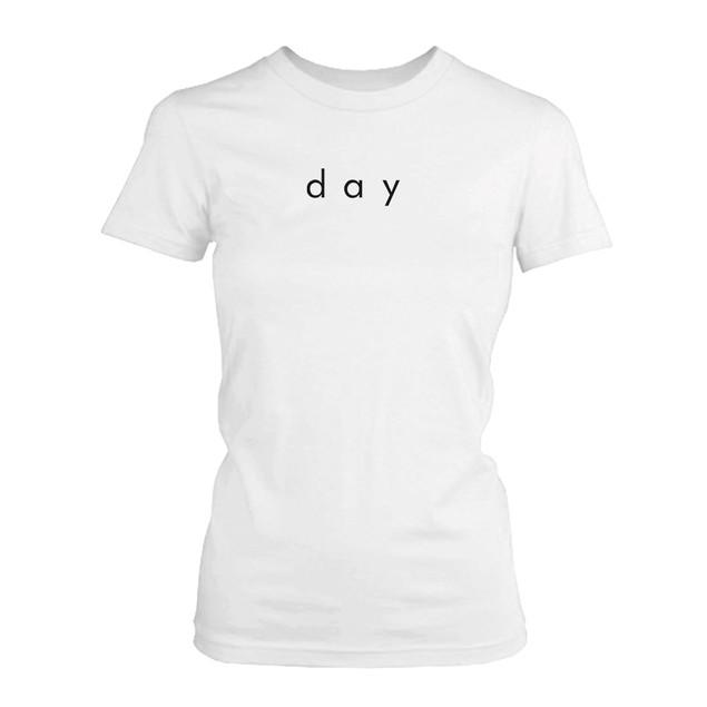 Night n Day Cute BFF Shirts Trendy Best Friends Black n White Matching Tees