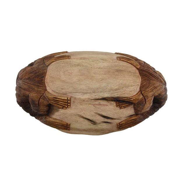 2 Tone Hand Carved Gorilla Teak Wood Centerpiece Decorative Bowls